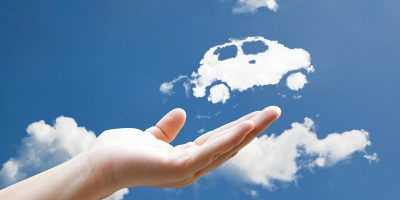 cloud hand flying car