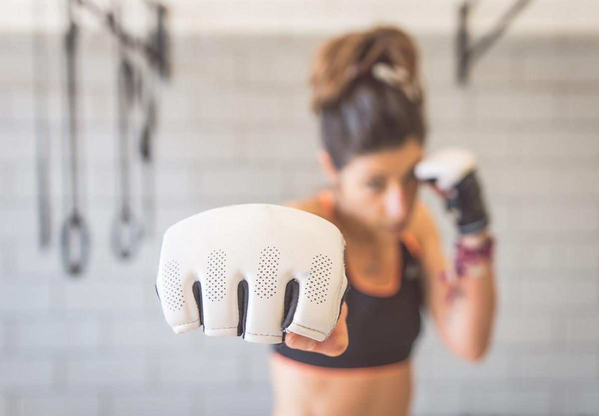 boxer punch woman
