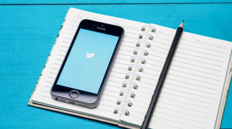 twitter notebook paper pad pencil