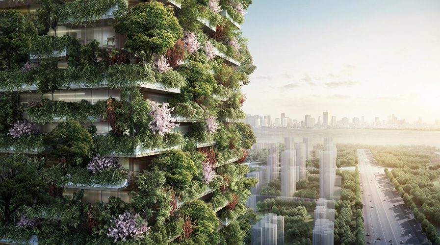 vertical forest green building environment
