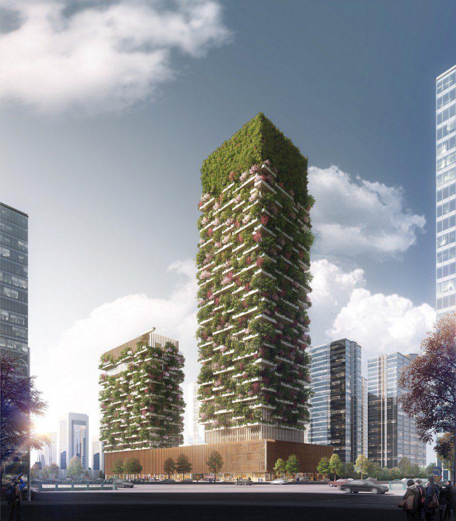 vertical forest green building environment