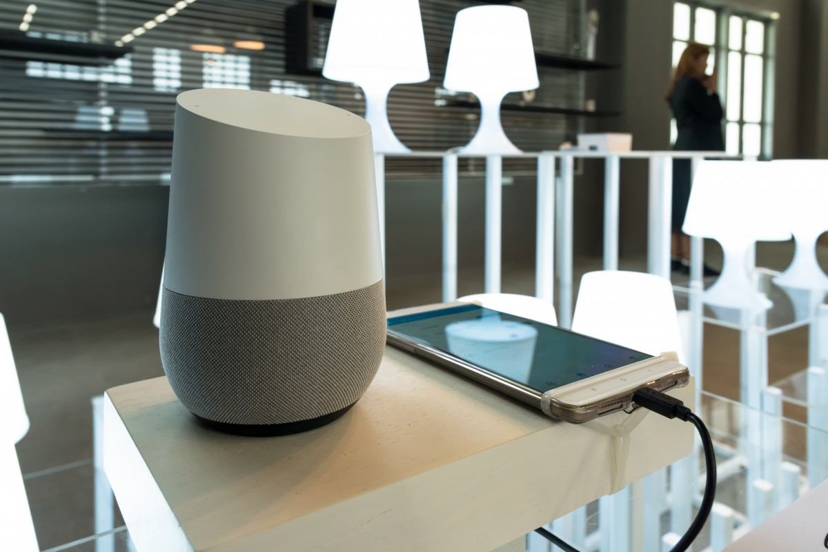 Google Home is a rival to Amazon's bestselling Echo products which still lead the pack. Source Shutterstock