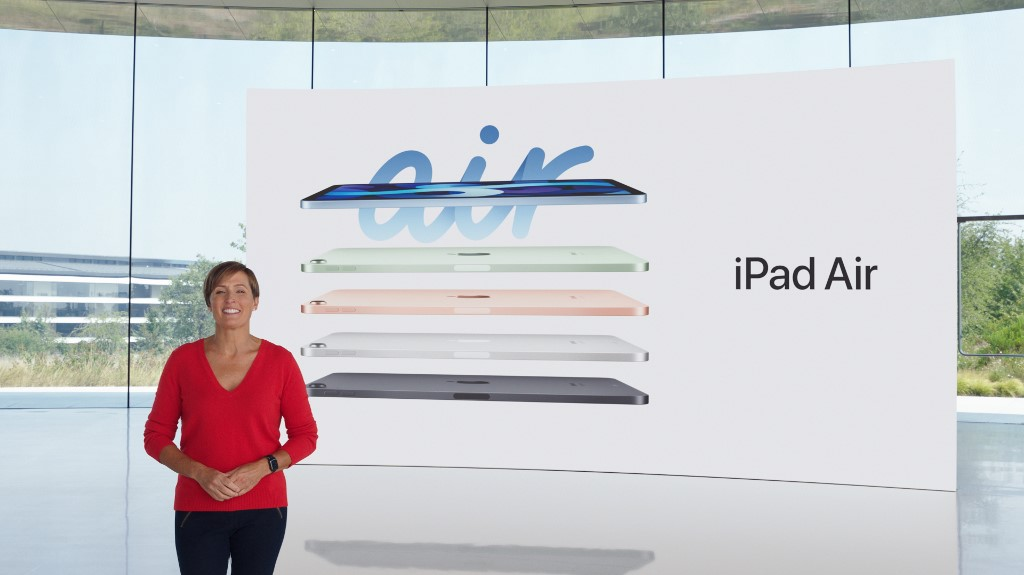 The reveal of the new iPad Air via a special video from Apple Park in Cupertino, California