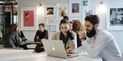 employees work workspace