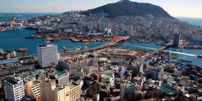 south korea city skyline