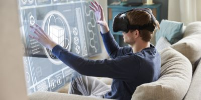 virtual reality wearables glasses man