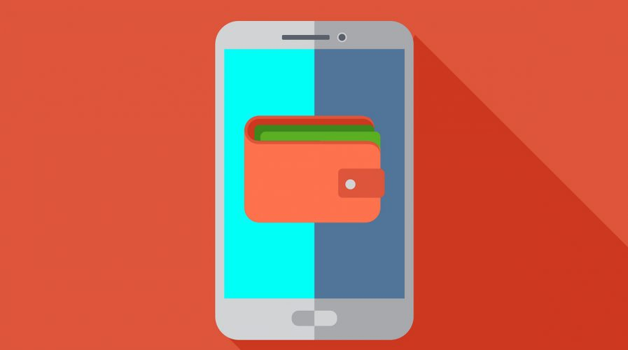 Mobile wallet icon or illustration