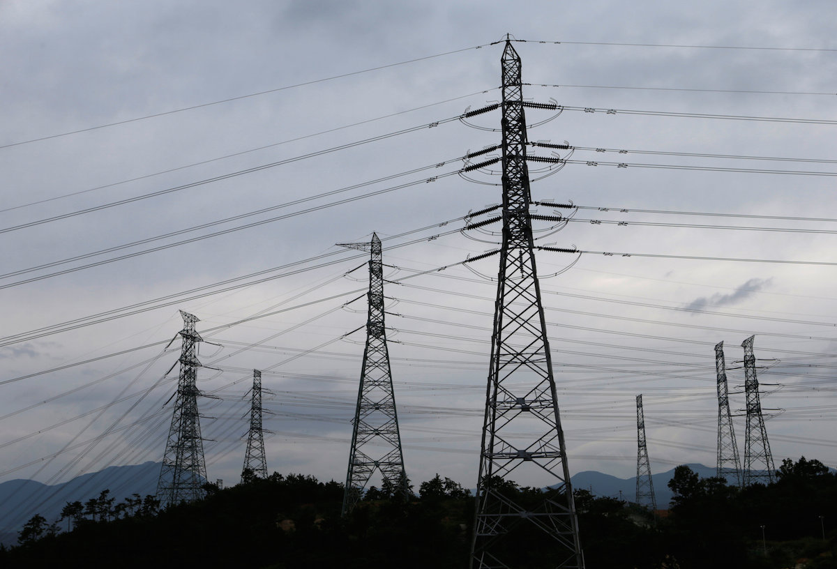 power transmission towers south korea kepco grid power