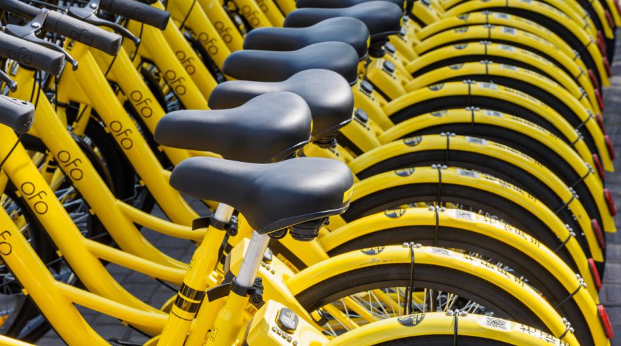 ofo bicycles bike-sharing china