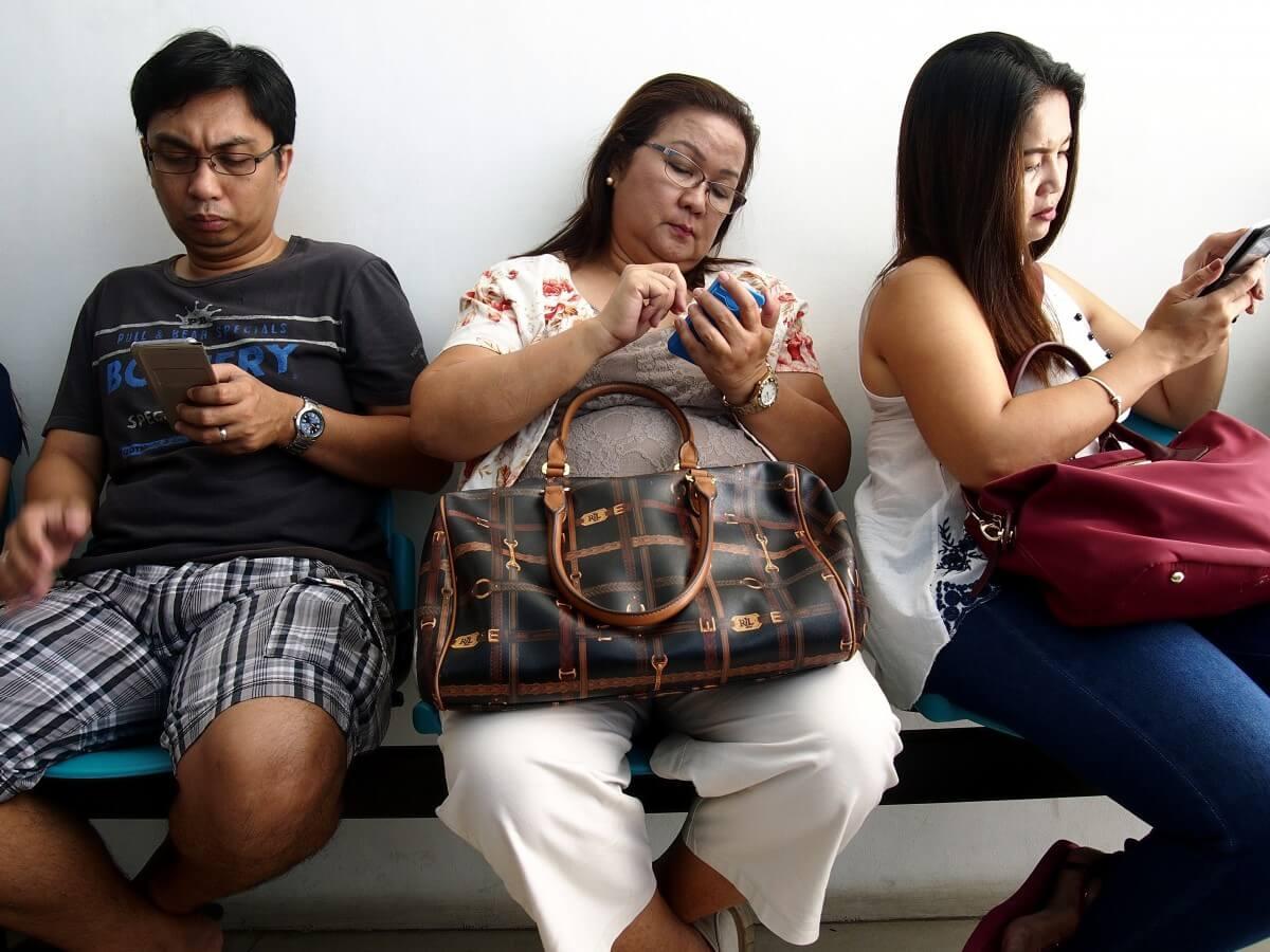 people, smartphone
