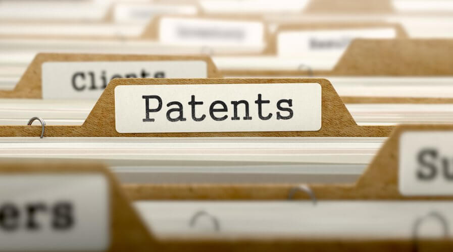 a file with the word patent on it