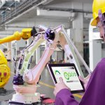 """Swiss robotic giant ABB is build the """"world's most advanced, automated and flexible robotics factory - a cutting-edge center where robots make robots."""" Source: Shutterstock"""