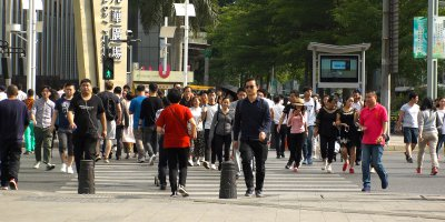 """Surveillance system using """"gait recognition"""" networks are already watching citizens on the streets of Beijing and Shanghai. Source: Shutterstock.com"""