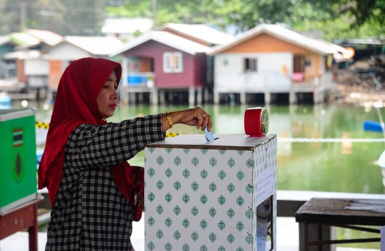 Thailand might transform its voting process with blockchain. Source: MADAREE TOHLALA / AFP