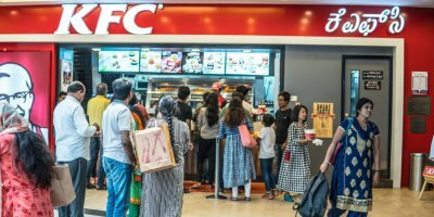 KFC India uses voice marketing. Source: Shutterstock