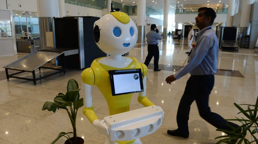 Machines will be a part of future workplaces in all forms of technologies. Source: AFP