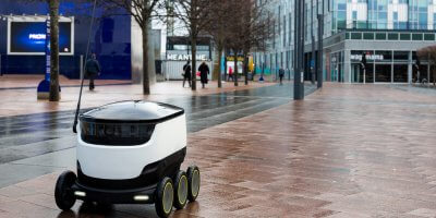 Autonomous delivery robots may be the solution to last-mile delivery challenges. Source: Shutterstock