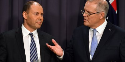 What do Australian's want from their Prime Minister Scott Morrison (R) and treasurer Josh Frydenberg (L) from the budget this year? Source: Saeed KHAN / AFP