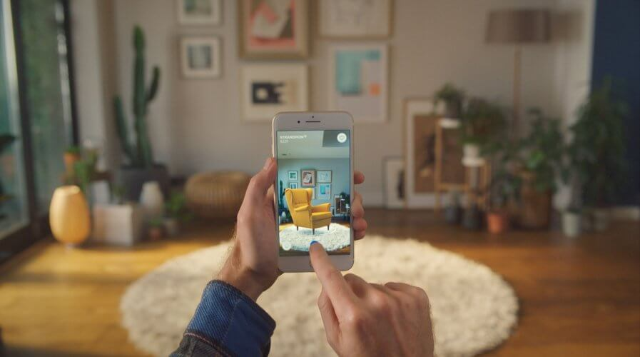 IKEA recently announced the launch of IKEA Place, an augmented reality app that lets people virtually place furniture in their home. Source: IKEA