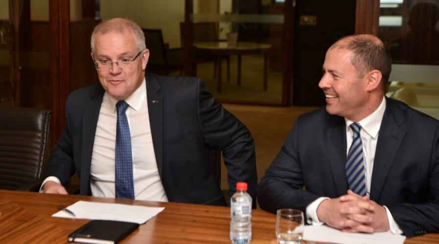Australian Prime Minister Scott Morrison has a great responsibility and role in the country's tech development. Source: Peter Parks / AFP