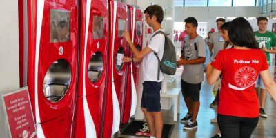 It makes sense for Coca Cola and PepsiCo to debut their tech with students. Source: Shutterstock