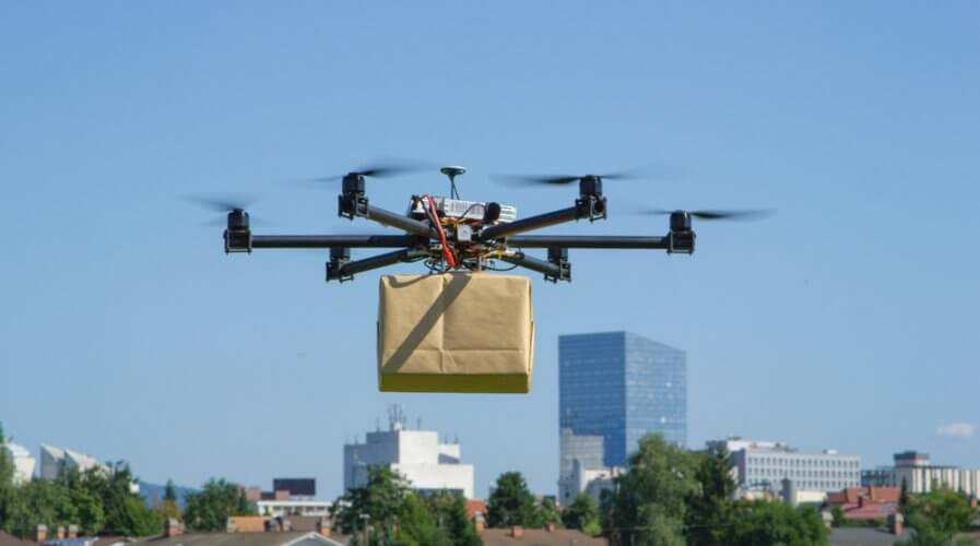 Drones promise around-the-clock deliveries as it will not be limited by human workforce availability and road traffic congestion. Source: Shutterstock