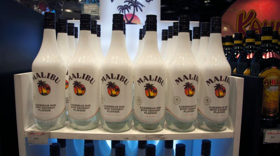 """Pernod Ricard's Malibu to debut """"connected bottles"""". Source: Shutterstock"""