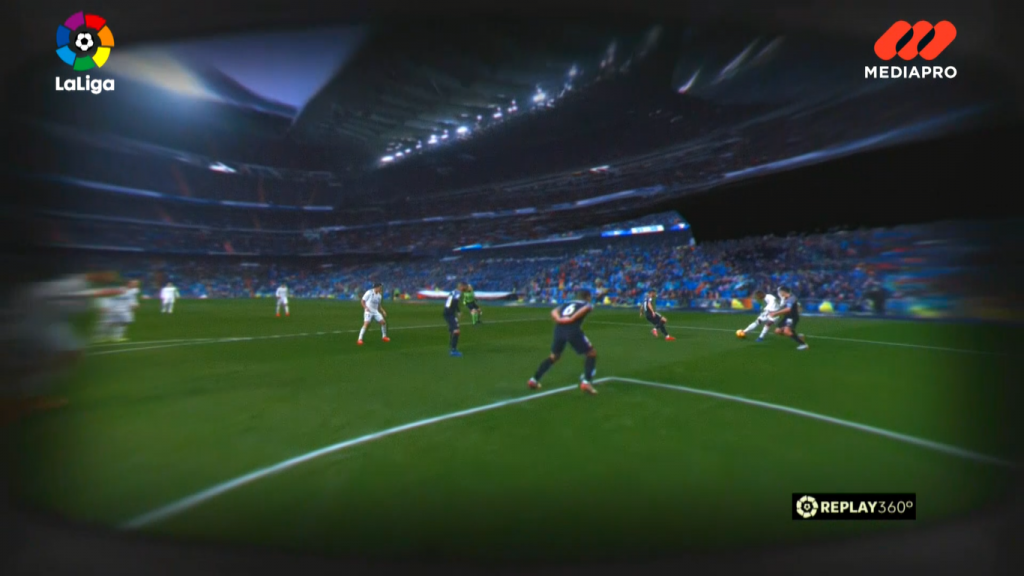 A glimpse into the action using LaLiga's Replay360. Source: LaLiga