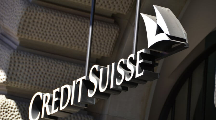 Credit Suisse is going digital and shrinking its branch banking network. Source: Shutterstock