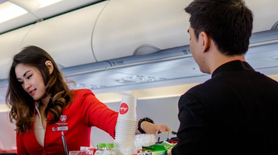 How does AirAsia ensure customer happiness? Source: Shutterstock