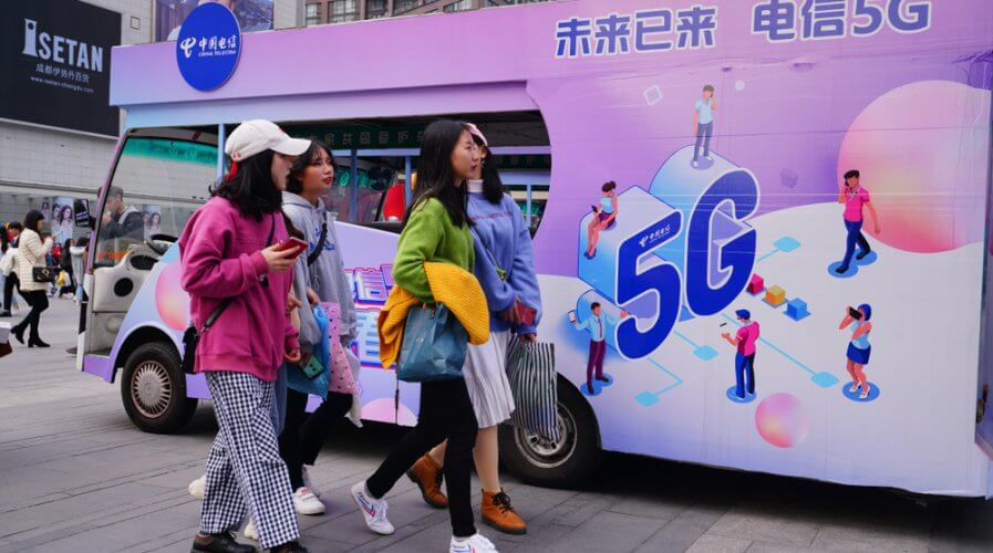 China makes progress with 5G but increases cyberthreats. Source: Shutterstock