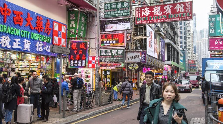 Retail shops are always a few steps away for residents of Hong Kong. Source: Shutterstock