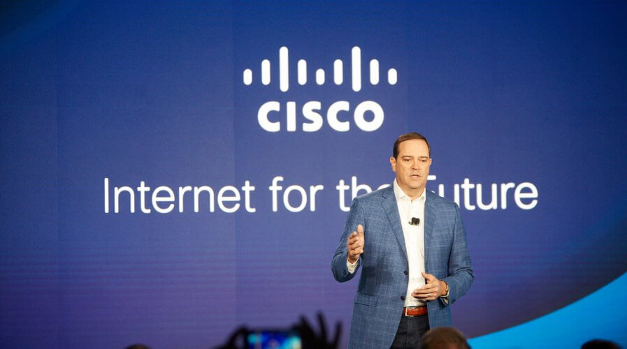 Cisco is powering the internet for the future. Source: Cisco
