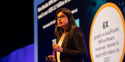 IDC's Sneha Kapoor says intelligent automation needs process re-engineering. Source: Twitter/UiPath