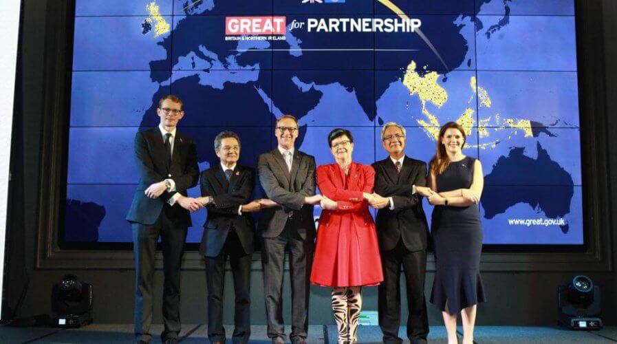 UK Trade Commissioner to APAC Natalie Black at a Business & Investment Summit in Thailand last year. Source: Twitter/NatalieBlackUK
