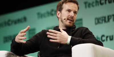 TransferWise CEO Taavet Hinrikus at a 2015 TechCrunch conference. Source: AFP.