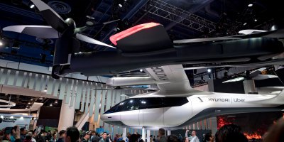 Hyundai flaunted it's flying taxi in the CES 2020 conference. Source: Shutterstock.