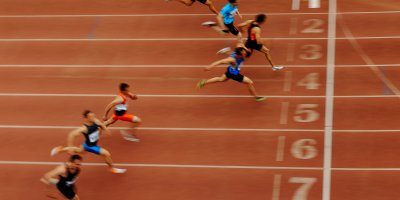 Just like sprints, the race to succeed in digitization is a tight one. Source: Shutterstock.
