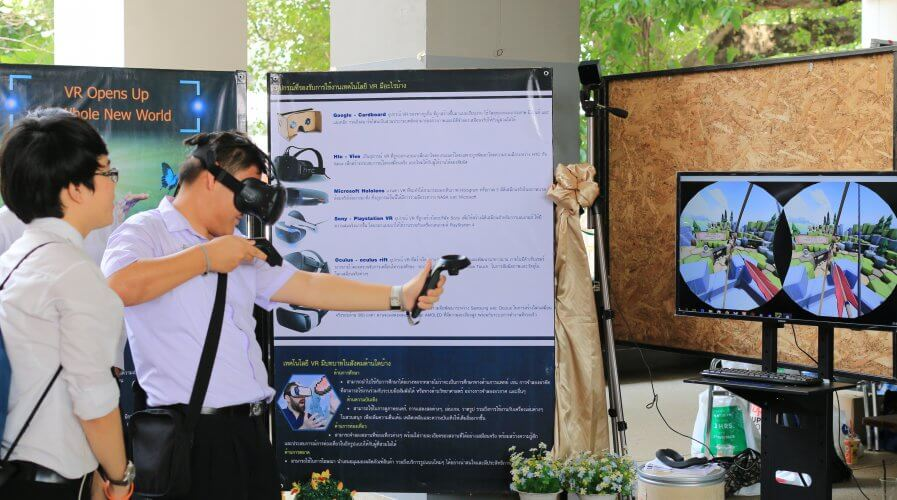 Virtual reality is one type of technology that is being used in remote training sessions. Source: Shutterstock