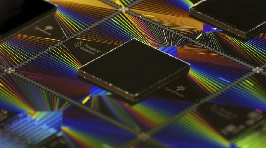 Illustration of Google's Sycamore quantum computing processor.