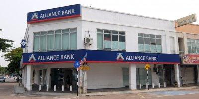 An Alliance Bank branch.