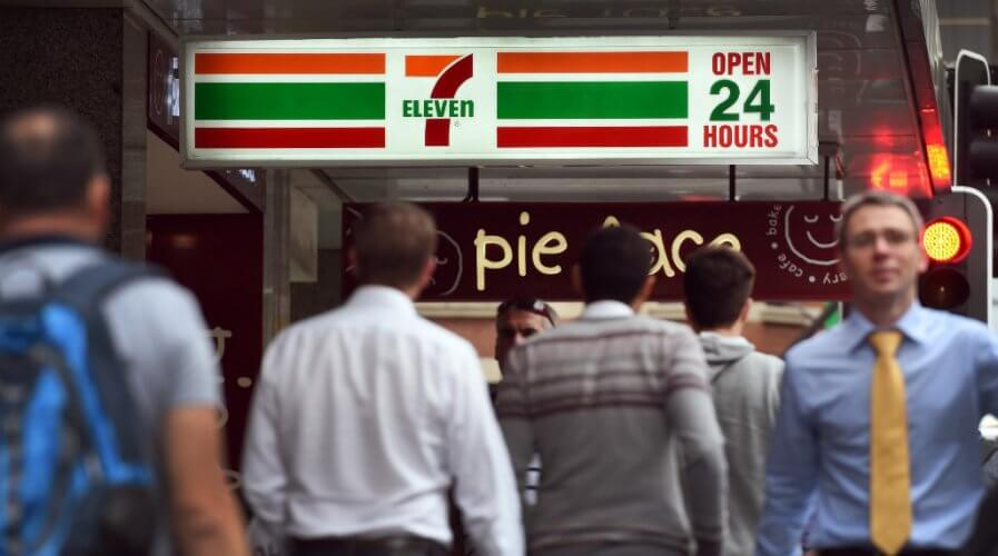A 7-Eleven Australia convenience store in Sydney's central business district.