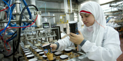 A Nestlé ice cream factory in Egypt