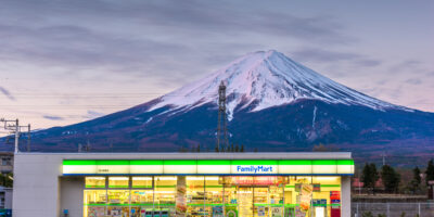 FamilyMart convenience store under Mt. Fuji