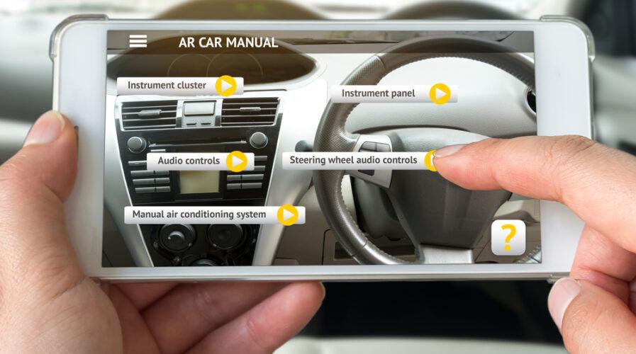 Car manuals utilizing AR features