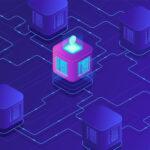Isometric blockchain technology concept