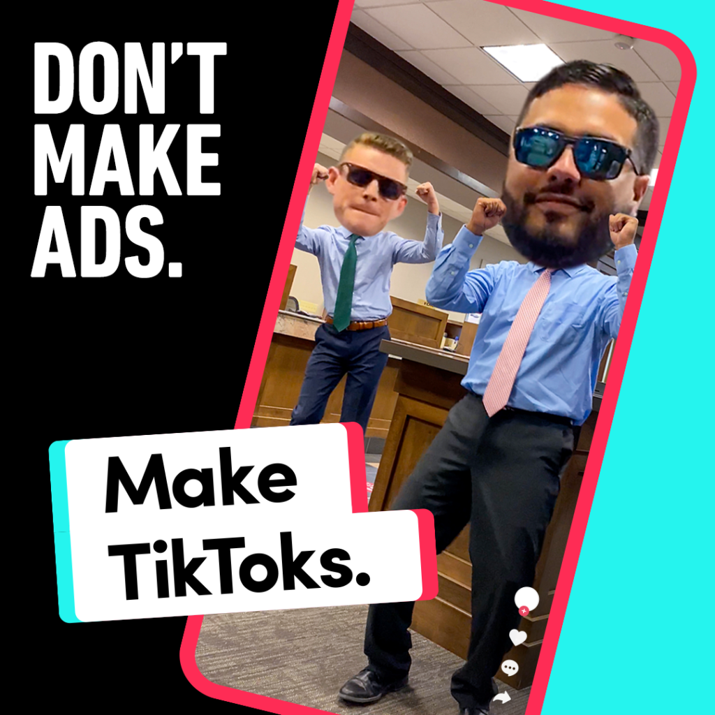 A still from Tiktok ads targeting businesses