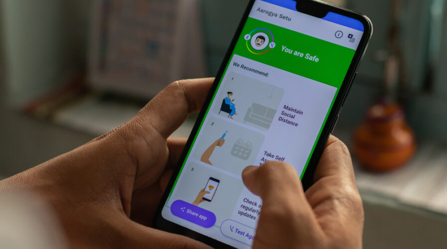 Virus contact tracing apps like India's 'Aarogya Setu' help with traceability in public places