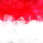 Flag of Indonesia (Republic of Indonesia) in Vector Square Design