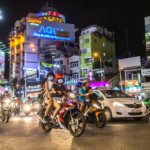 Rush hour on October 31, 2016 in Saigon, Vietnam